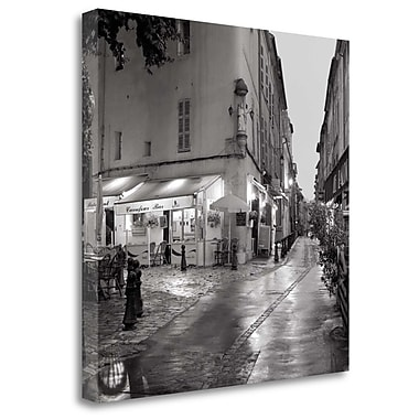 Tangletown Fine Art 'Carrefour Bistro' Photographic Print on Wrapped Canvas; 30'' H x 30'' W