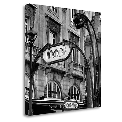 Tangletown Fine Art 'Metropolitain Paris - 2' Photographic Print on Wrapped Canvas; 30'' H x 30'' W