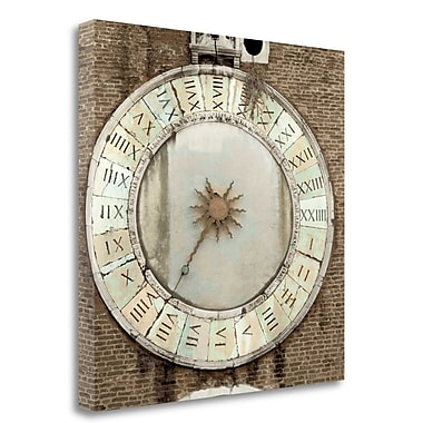 Tangletown Fine Art 'il Grande Orologio - 5' Photographic Print on Wrapped Canvas; 35'' H x 35'' W