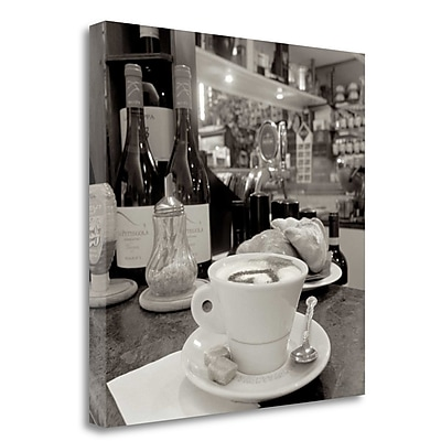 Tangletown Fine Art 'Tuscan Caffe - 32' Photographic Print on Wrapped Canvas; 35'' H x 35'' W
