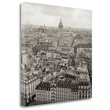 Tangletown Fine Art 'Above Paris - 24' Photographic Print on Wrapped Canvas; 35'' H x 35'' W