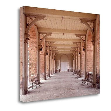 Tangletown Fine Art 'Bancs de Jardin - 1' Photographic Print on Wrapped Canvas; 17'' H x 22'' W