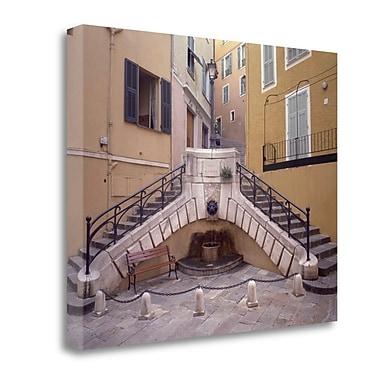 Tangletown Fine Art 'Banc de Jardin - 2' Photographic Print on Wrapped Canvas; 28'' H x 35'' W