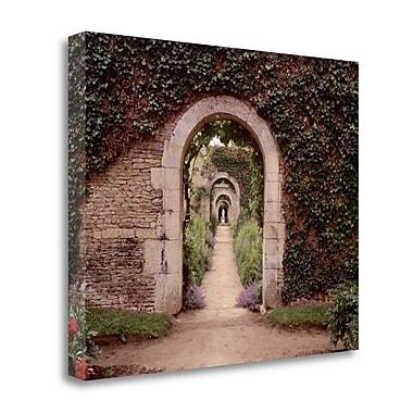 Tangletown Fine Art 'Banc de Jardin - 3' Photographic Print on Wrapped Canvas; 28'' H x 35'' W