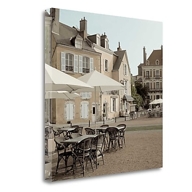Tangletown Fine Art 'France Cafe - 2' Photographic Print on Wrapped Canvas; 20'' H x 20'' W