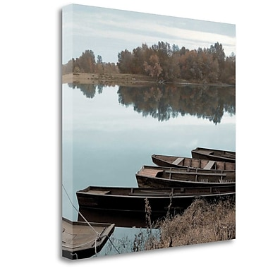 Tangletown Fine Art 'French Boats - 3' Photographic Print on Wrapped Canvas; 35'' H x 35'' W