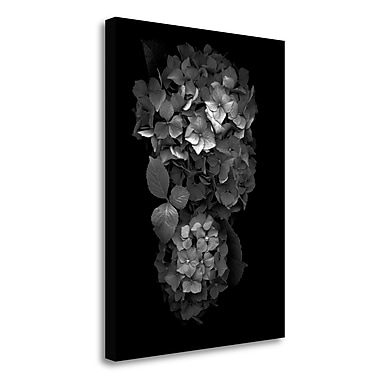 Tangletown Fine Art 'Floral B-W - 29' Graphic Art Print on Wrapped Canvas; 24'' H x 18'' W