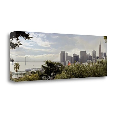 Tangletown Fine Art 'SF Skyline Pano - 110' Photographic Print on Wrapped Canvas; 12'' H x 34'' W