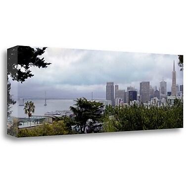 Tangletown Fine Art 'Bay Bridge Pano - 111' Photographic Print on Wrapped Canvas; 13'' H x 39'' W