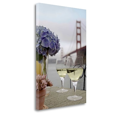 Tangletown Fine Art 'Dream Cafe Golden Gate Bridge - 4' Photographic Print on Wrapped Canvas
