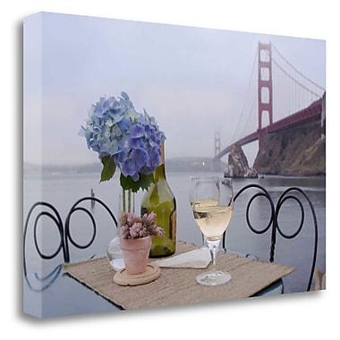 Tangletown Fine Art 'Dream Cafe Golden Gate Bridge - 3' Photographic Print on Wrapped Canvas