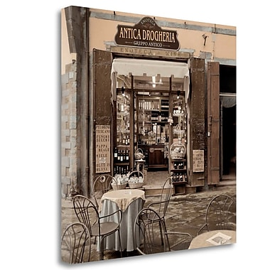 Tangletown Fine Art 'Tuscany Caffe - 11' Photographic Print on Wrapped Canvas; 35'' H x 35'' W