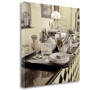 Tangletown Fine Art 'Bergamo Caffe - 2' Graphic Art Print on Wrapped Canvas; 20'' H x 20'' W