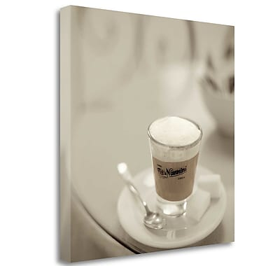 Tangletown Fine Art 'Caffe Lucca - 1' Graphic Art Print on Wrapped Canvas; 25'' H x 25'' W