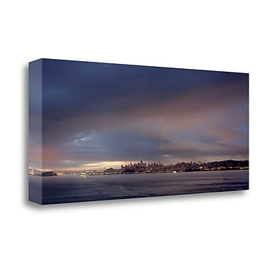 Tangletown Fine Art 'SF Skyline - 101' Photographic Print on Wrapped Canvas; 17'' H x 39'' W