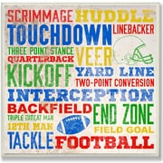 Stupell Industries The Kids Room 'Football Words' Framed Textual Art Wall Plaque; Plaque