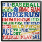 Stupell Industries The Kids Room 'Baseball Words' Framed Textual Art Wall Plaque; Black Frame