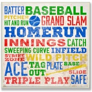 Stupell Industries The Kids Room 'Baseball Words' Framed Textual Art Wall Plaque; Plaque