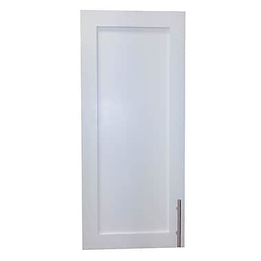 WG Wood Products Cumberland 15.5'' x 35.5'' Recessed Medicine Cabinet; White Enamel