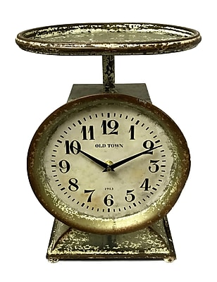 One Allium Way Weight Scale Tabletop Clock