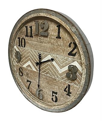 Union Rustic Calliope Modern 23.75'' Round Wall Clock