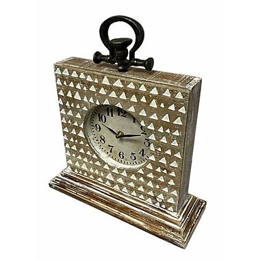 Union Rustic Rustic Mantel Tabletop Clock