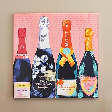 Willa Arlo Interiors 'Pass The Bottle!' Graphic Art on Wrapped Canvas; 36'' H x 36'' W