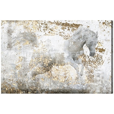 Willa Arlo Interiors 'Running Equus' Graphic Art on Wrapped Canvas; 40'' H x 60'' W x 2'' D