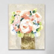 Willa Arlo Interiors 'Barcroft Coral Peonies' Painting Print on Wrapped Canvas