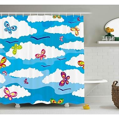 Zoomie Kids Olwanda Spring Shower Curtain; 69'' H x 84'' W
