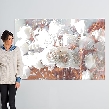 Willa Arlo Interiors 'Rose Gold Feast' Graphic Art on Wrapped Canvas; 40'' H x 60'' W x 2'' D