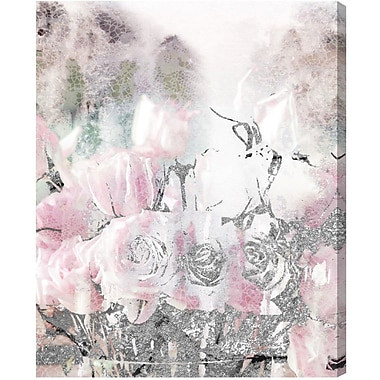 Willa Arlo Interiors 'Romance Lace and Roses' Graphic Art on Wrapped Canvas; 20'' H x 16'' W