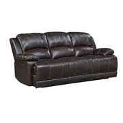 Red Barrel Studio Garlock Leather Power Motion Reclining Sofa; Power