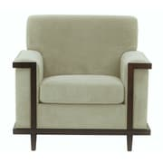 Darby Home Co Mahowny Retro Trim Club Chair; Beige