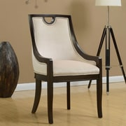 Darby Home Co Adebay Nailhead Upholstered Dining Chair; Beige