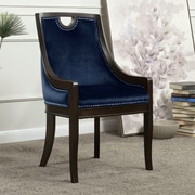 Darby Home Co Adebay Nailhead Upholstered Dining Chair; Navy