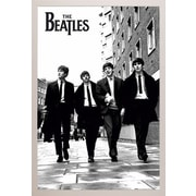 East Urban Home 'The Beatles In London' Rectangle Framed Graphic Art Print Poster; White Framed