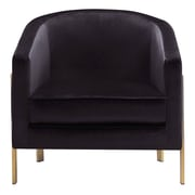 Everly Quinn Zetta Club Chair; Black