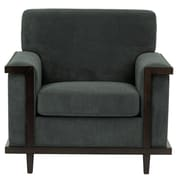 Darby Home Co Mahowny Retro Trim Club Chair; Gray
