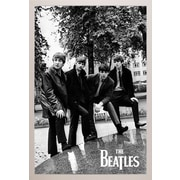 East Urban Home 'The Beatles Pose' Vertical Framed Graphic Art Print Poster; White Framed