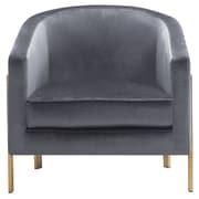 Everly Quinn Zetta Club Chair; Gray