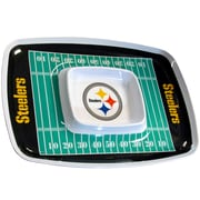 Team Pro-Mark NFL Chip and Dip Platter; Pittsburgh Steelers