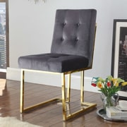 Everly Quinn Zoila Upholstered Dining Chair; Gray