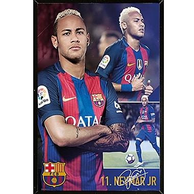 Frame USA 'Barcelona Neymar Collage 16/17' Framed Graphic Art Print Poster; Black Plaque Framed