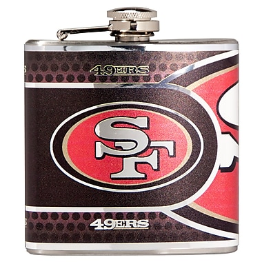 Team Pro-Mark NFL Stainless Steel Flask; San Franscisco 49ers