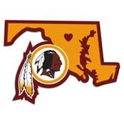 Team Pro-Mark NFL Home State Decal; Washington Redskins Home