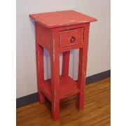 GarnetTradingCo Elle End Table; Red