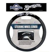 Team Pro-Mark MLB Steering Wheel Cover; Milwaukee Brewers
