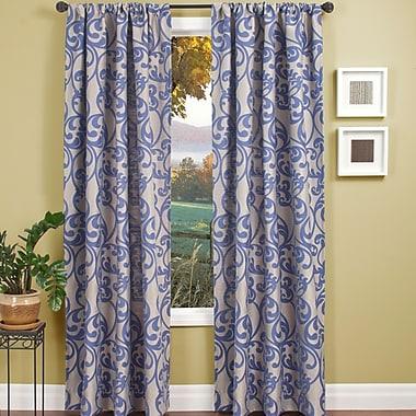 Winston Porter Lavonne Nature / Floral Single Curtain Panel; Violet Blue