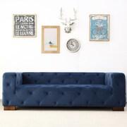 Mercer41  Ossett Tufted Elegant Cheaterfield Sofa; Dark Blue